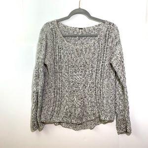 Free People :: Grey Cable Knit Sweater